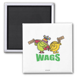 Wags 2 Inch Square Magnet