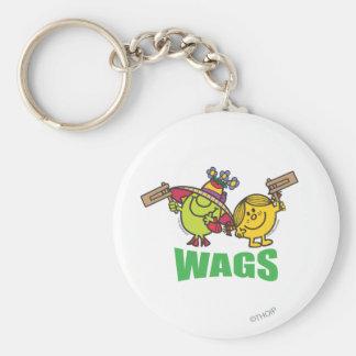 Wags Basic Round Button Keychain