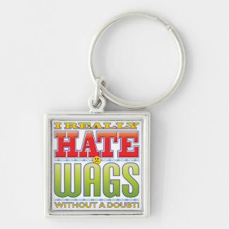 Wags Hate Face Key Chains