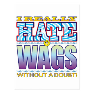 Wags Hate Face Postcard