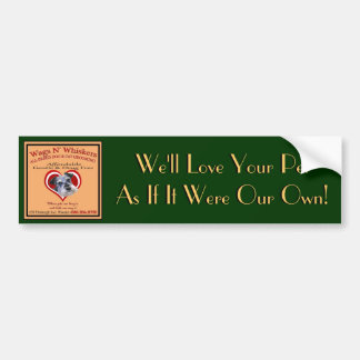 Wags'N'Whiskers Bumper Sticker