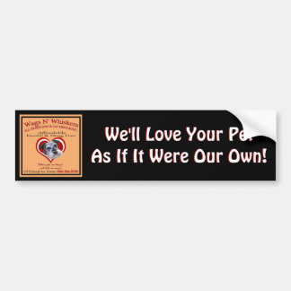 Wags'N'Whiskers Bumper Sticker 2