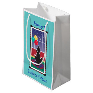 WagsToWishes_Balloons & Birthday Wishes_Turquoise Small Gift Bag