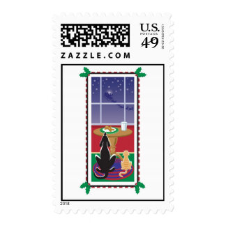 WagsToWishes_Be Good Santa's Coming postage