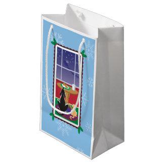 WagsToWishes_Be Good Santa's Coming Small Gift Bag