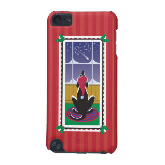 WagsToWishes®_Dog Bone Stars_red wrapping paper iPod Touch (5th Generation) Cases