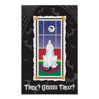 WagsToWishes_Ghostly Labrador Halloween print