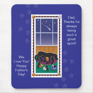 WagsToWishes®_Great Sport Father's Day Mouse Pad