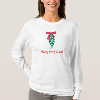 WagsToWishes_Happy Holly Days_Merry Kissmas T-Shirt