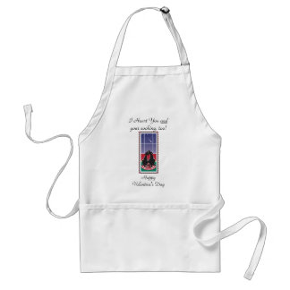 """WagsToWishes_""""I Heart You and Your Cooking, too!"""" Adult Apron"""