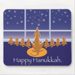 WagsToWishes_Menorah Dogs Mouse Pad