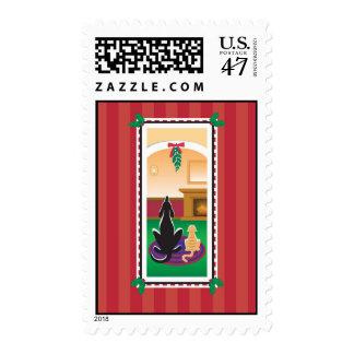 WagsToWishes_Merry Kissmas holiday postage