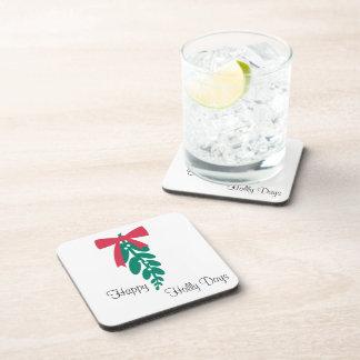 WagsToWishes®_Mistletoe _Happy Holly Days Coaster