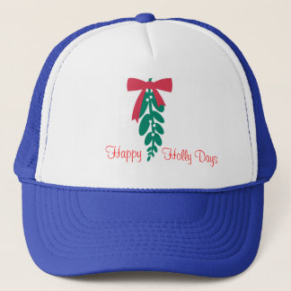 WagsToWishes_Mistletoe_Happy Holly Days Trucker Hat
