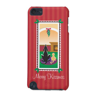 WagsToWishes®_Pets under mistletoe_Merry Kissmas iPod Touch 5G Cover