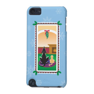 WagsToWishes®_Pets under mistletoe_snowflakes iPod Touch 5G Cases