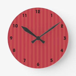 WagsToWishes®_Red Striped Wrapping Paper Style Round Clock