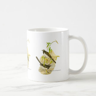Wagtail de varios colores grande tazas de café