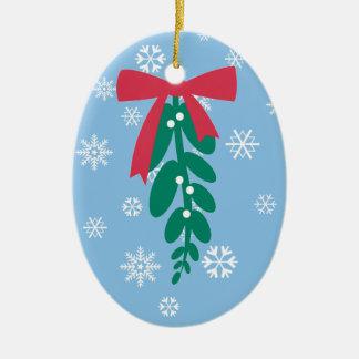 WagToWishes _Mistletoe_Happy Holly Days! Ceramic Ornament