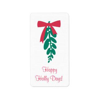 WagToWishes _Mistletoe_Happy Holly Days! Label