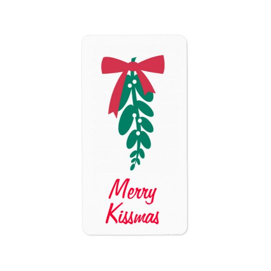 WagToWishes _Mistletoe Merry Kissmas! gift tag