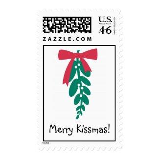 WagToWishes _Mistletoe Merry Kissmas! postage stamp