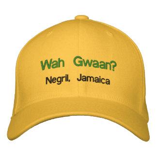 ¿Wah Gwaan? Negril, Jamaica Gorra De Béisbol