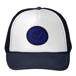 Wah Wah Pedal Black and Blue Trucker Hat