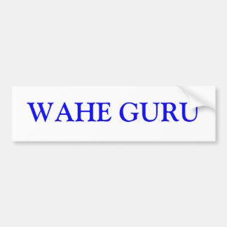 WAHE GURU BUMPER STICKERS