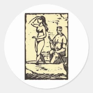 wahi nana round stickers