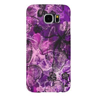 Wahine Lace Hawaiian Orchid Samsung Galaxy S6 Case