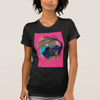 Wahine Mystique Pink (Black) T-Shirt