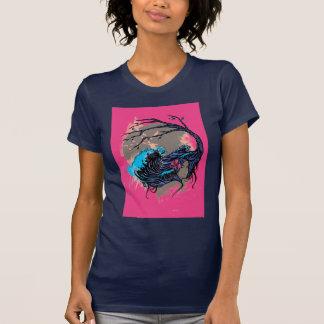 Wahine Mystique Pink (Navy) T-Shirt