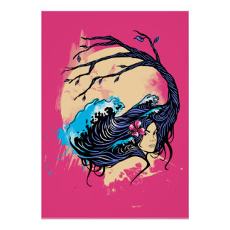Wahine Mystique Poster