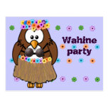 wahine owl postcard