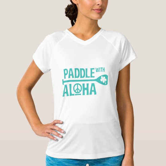 Wahine Paddle with Aloha Rash Guard T-Shirt