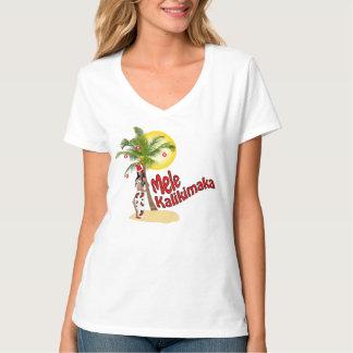 Wahine Pin-up Mele Kalikimaka Christmas T-Shirt 2