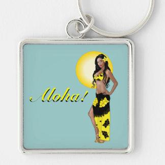 Wahine Pinup 1 Aloha Keychain
