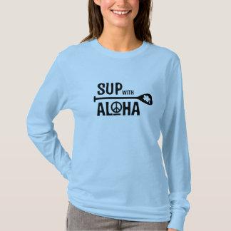 Wahine SUP with Aloha Long Sleeve Tee
