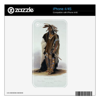 Wahk-Ta-Ge-Li, a Sioux Warrior, plate 8 from Volum iPhone 4S Decal