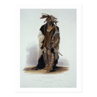 Wahk-Ta-Ge-Li, a Sioux Warrior, plate 8 from Volum Postcard
