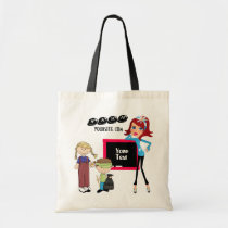 tote, tote-bag, bag, budget, school, teacher, children, teens, business, wahm, Bag with custom graphic design