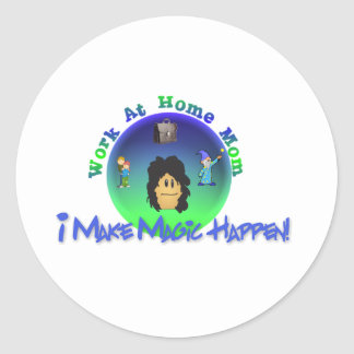 WAHM  I Make Magic Happen Classic Round Sticker