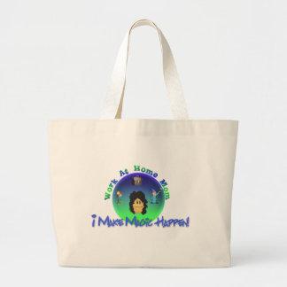 WAHM  I Make Magic Happen Large Tote Bag
