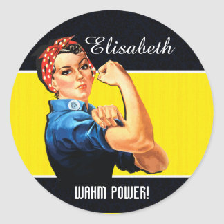 WAHM Power! - Work at Home Mom Classic Round Sticker