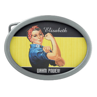 WAHM Power! - Work at Home Mom Oval Belt Buckle