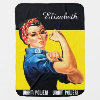 WAHM Power! - Work at Home Mom Receiving Blanket
