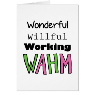 WAHM _ Work At Home Mom Card