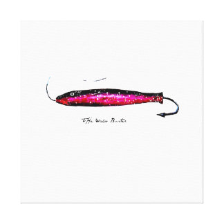 Wahoo Buster Fishing Lure watercolor on canvas