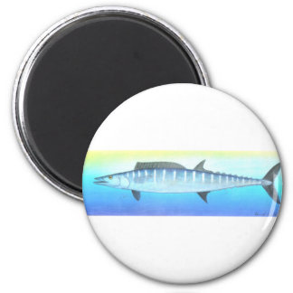 Wahoo fish 2 inch round magnet
